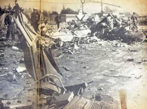 Debris on the Pacoima Junior High School Athletic Field
